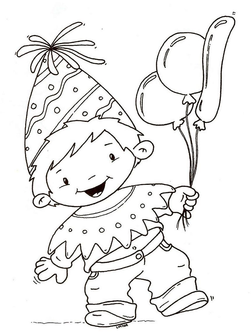 Desenhos Carnaval Imprimir Colorir Atividades Escolares  5